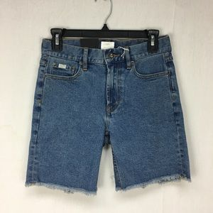 RVCA Medium Wash Hexed Denim Shorts